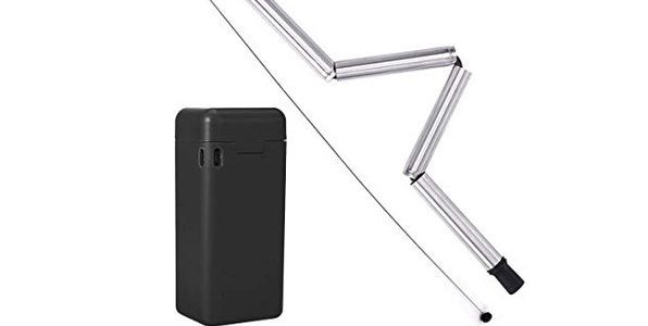 [48% Off] Collapsible Reusable Straw With Cleaner & Case